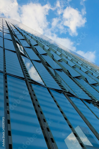 Poster Glass Facade Building in New York City..