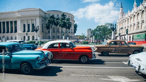 Spoed canvasdoek 2cm dik Havana Straßenszene Havanna