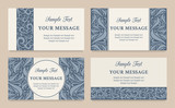 Vector floral vintage invitation cards, business cards or announ