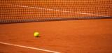 Balle de Tennis sur un Terrain de Tennis - 103985519