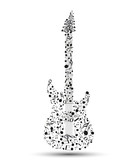 Fototapety Vector electric guitar