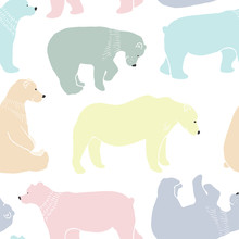 Bears pattern in vector.