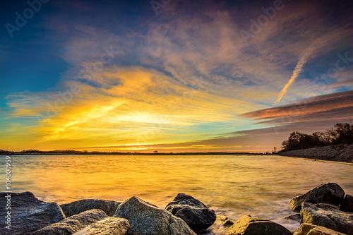 obraz PCV Wschód słońca nad morzem