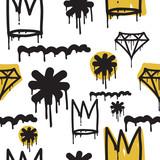 Fototapety Graffiti seamless pattern