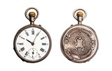 Antique Pocket Watch Isolated on White (Clipping path) - 104009158