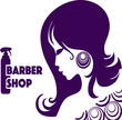 Постер, плакат: Логотип парикмахерская