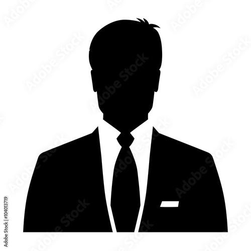Businessman icon, silhouette avatar profile picture