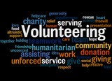 Volunteering, word cloud concept 8