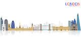London city skyline vector illustration