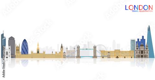 Zdjęcia na płótnie, fototapety, obrazy : London city skyline vector illustration
