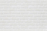 Fototapety White brick tile wall seamless background and texture