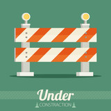 Under construction concept in flat design style