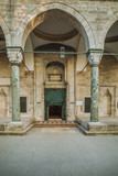 Entrance to the hall  of Old mosque in Istanbul city