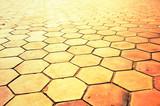 cement block path