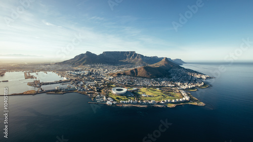 Poster Aerial coastal view of Cape Town, South Africa
