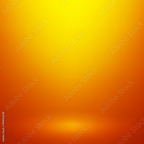 Abstract orange gradient background. Used as background for product display - Vector
