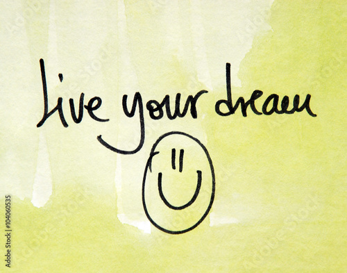 Poster live your dream