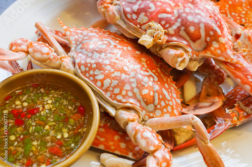 chili crab crab in sour and chili crab crab in sour and spicy sauce ...