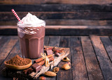 Chocolate milkshake with whipped cream