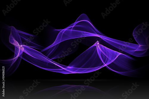 purple or blue abstract wave with reflex