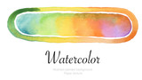 Watercolor painted background.