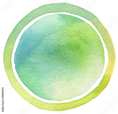 Plexiglas Geschilderde Achtergrond Circle watercolor painted background. Texture paper.