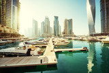 Fototapety Dubai Marina at sunset, United Arab Emirates