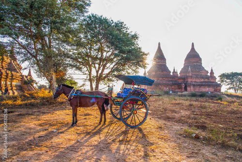 Poster horse carriage for   Ancient Temples tour in Bagan, Myanmar