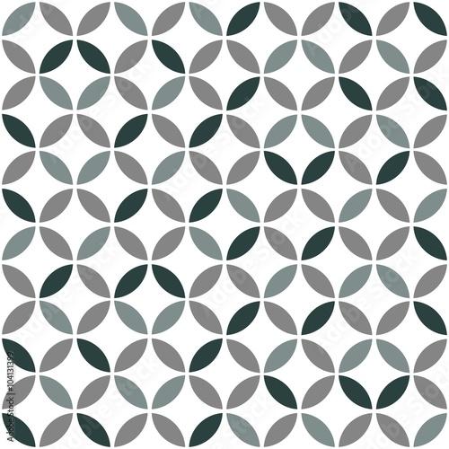 obraz lub plakat Grey Geometric Retro Seamless Pattern