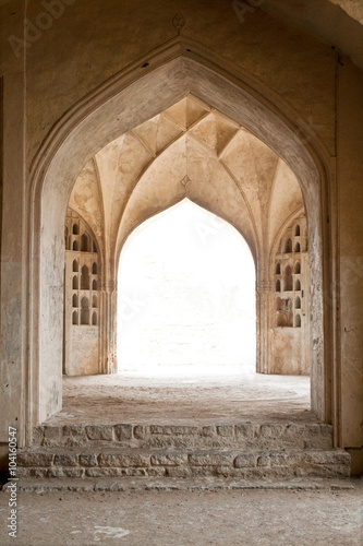 Poster Series of exquisite curve arches of a passageway inside the fort