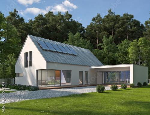 Gamesageddon Haus Mit Verglastem Anbau Lizenzfreie Fotos