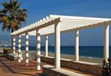 Fuengirola, pérgola, paseo marítimo, paisaje, playa, Málaga, Andalucía, costa, mar,