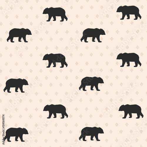 Seamless pattern with bear. Vector illustration - 104164974