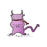 cartoon little demon