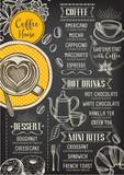Fototapety Coffee restaurant cafe menu, template design.