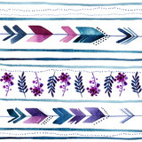 elegant seamless pattern in the style of boho