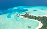 Aerial view on Maldives island, Raa atol - 104184308