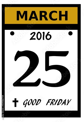Calendar Good Friday : Quot good friday calendar date icon stock photo and
