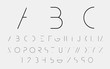 Black alphabetic fonts and numbers. Vector illustration. - 104196585