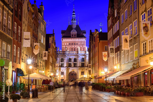 Fototapety, obrazy : Golden Gate in the old town of Gdansk, Poland