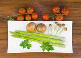 bodegon rustico de verduras