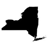 Fototapety New York black map on white background vector