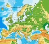 fyzikální mapa evropy