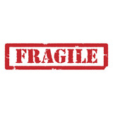 Fragile red stamp
