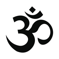 Hindu om symbol icon, simple style