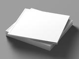 Blank square catalog mock up on light grey background.  - 104322113