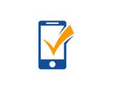 Mobile Check Logo Design Template