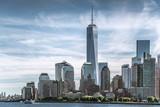 Skyline of lower Manhattan of New York City with World Trade Center - 104358791