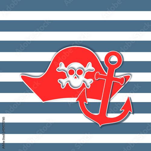 Tarjeta pirata vintage