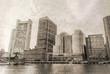Quadro Boston skyline, vintage photo